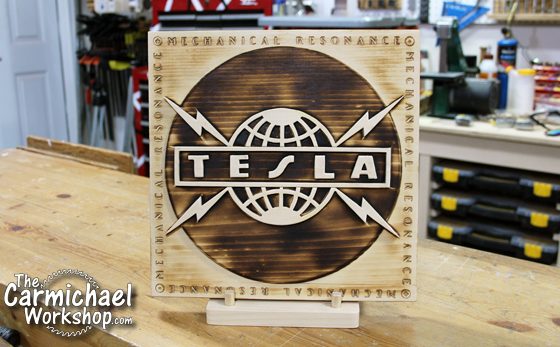 Makers Rock Tesla Album Cover Art by The Carmichael Workshop