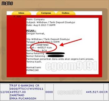 Bukti Pembayaran/Withdraw Dari Situs POKER -88- Ke 1