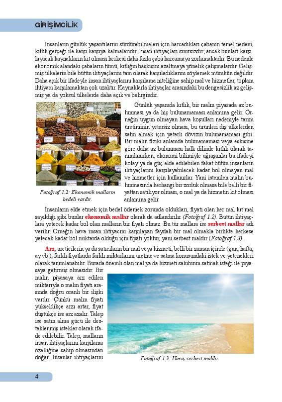 Girişimcilik Ders Kitabı Cevapları Sistem Yayınları Sayfa 4