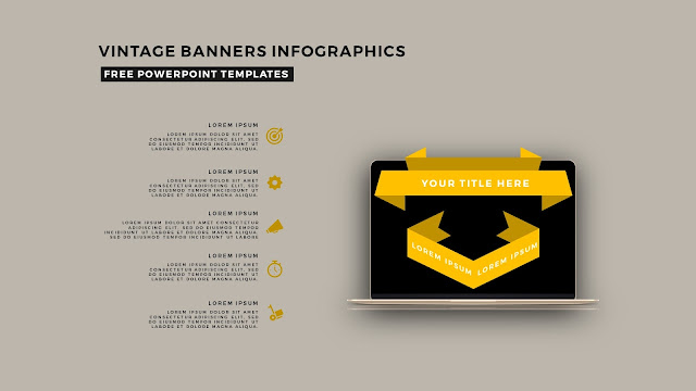Vintage Banners Infographic Free PowerPoint Template Slide 4