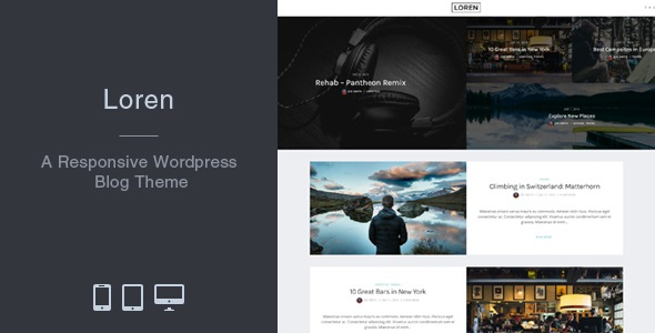 Free premium responsive WordPress blog theme download