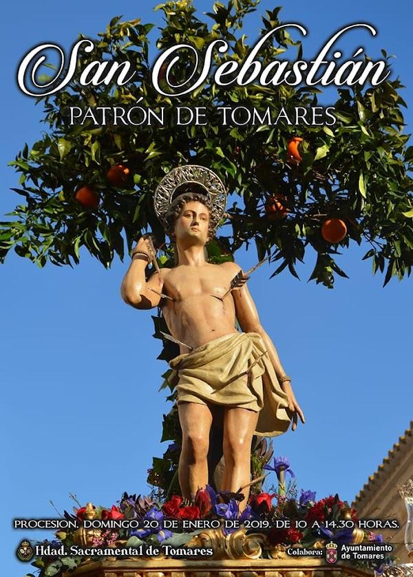 Cartel de la procesión de San Sebastián, Patrón de Tomares