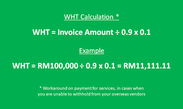 WHT calculation (workaround)