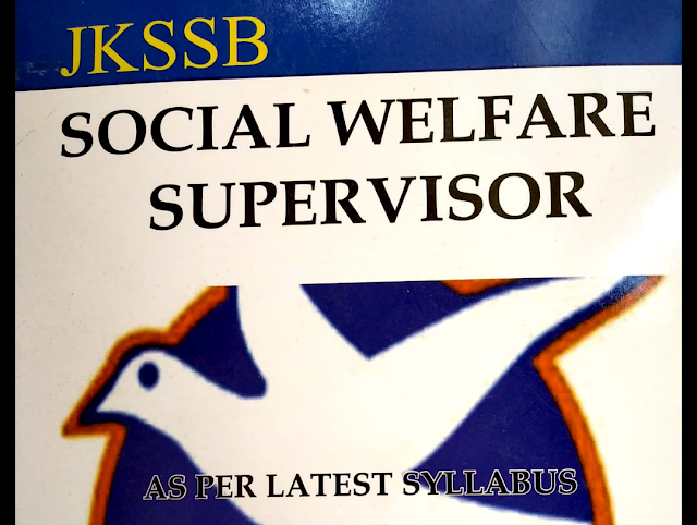 supervisor post  (females only)DOWNLOAD free  book in pdf for jkssb supervisor post social welfare department Examination