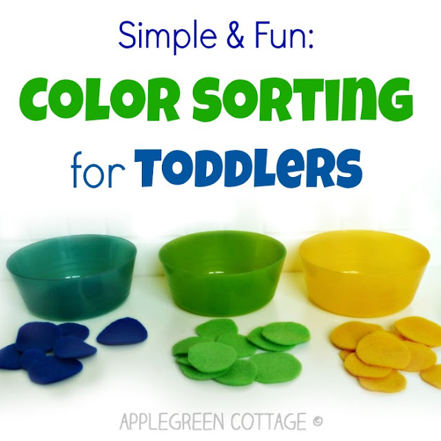 felt fun toddler color sorting activities