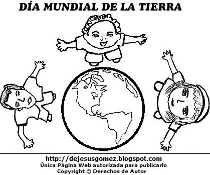 Dibujo al Día Mundial de la Tierra para colorear pintar imprimir. Dibujo por el Día Mundial de la Tierra hecho por Jesus Gómez