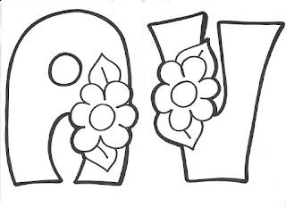 MEMELOS: Letras de Primavera para colorear.