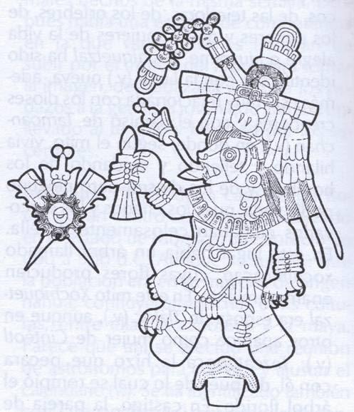 Xoloitzcuintle Para Colorear Dibujo De Los Das Aztecas