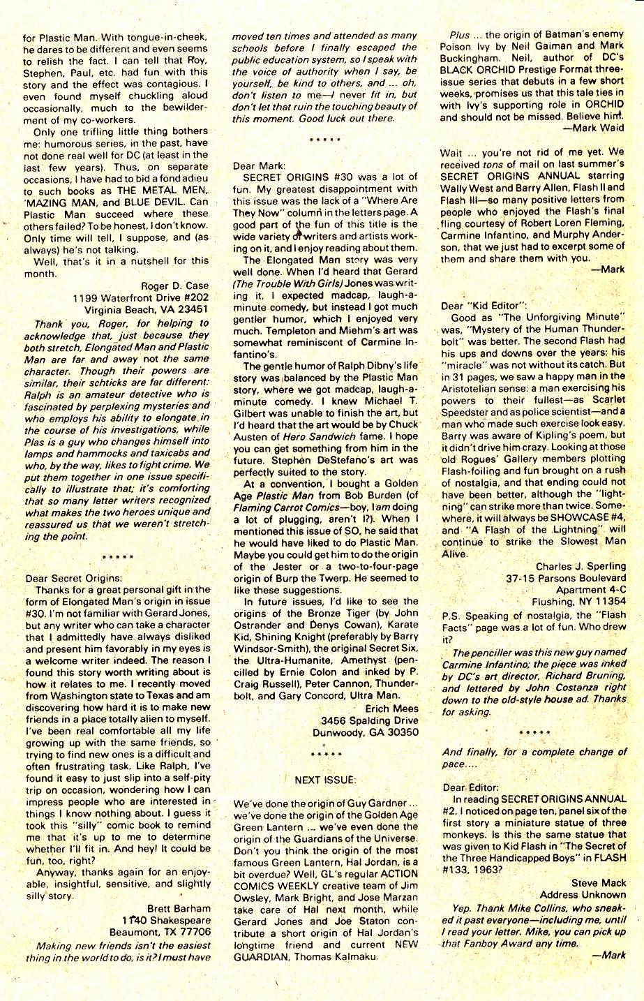 Read online Secret Origins (1986) comic -  Issue #35 - 19