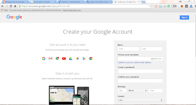 google account for free