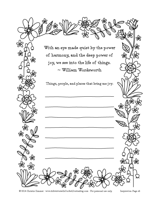 Adventures in Guided Journaling: Printable Guided Journal