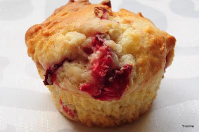Aardbei mascarpone muffins