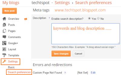 Add Blogger Blog Meta Tag Description 2
