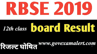 Rajasthan Board 12th Results of Science and Commerce 2019