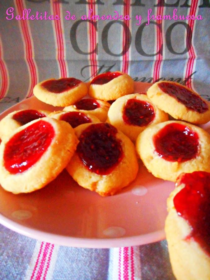 galletas-de-almendra-y-frambuesa, almond-raspberry-cookies