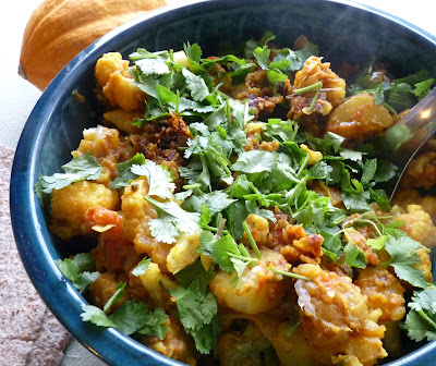 Alu Gobi or Aloo Gobi; a cauliflower and potato curry