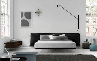 habitación cama suspendida
