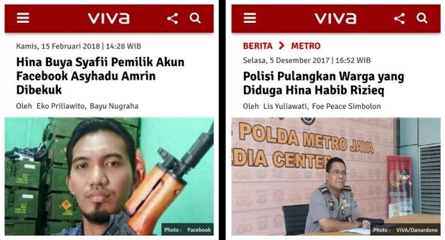 Hina Buya Syafii Pemilik Akun Facebook ini Dibekuk, Hina Habib Rizieq Tidak Dicyduk?