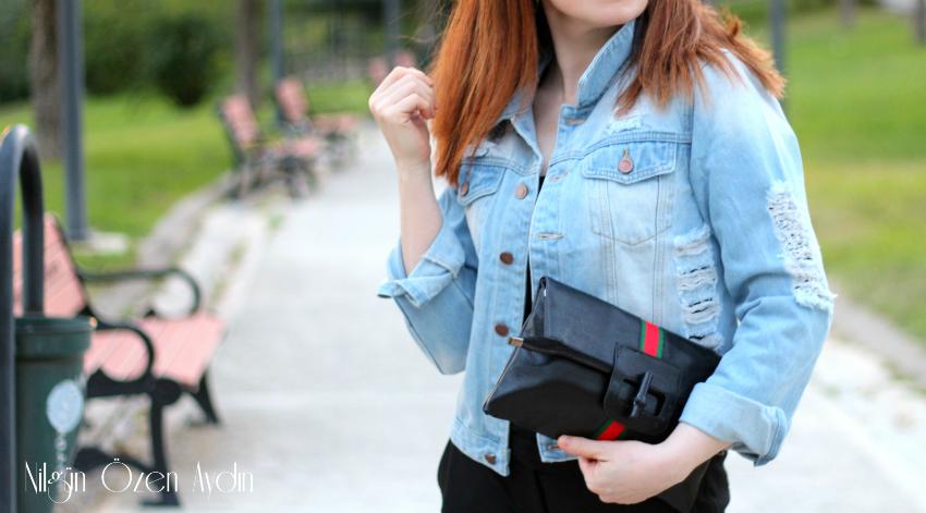 alışveriş, Yırtık Kot Ceket, moda blogu, fashion blog