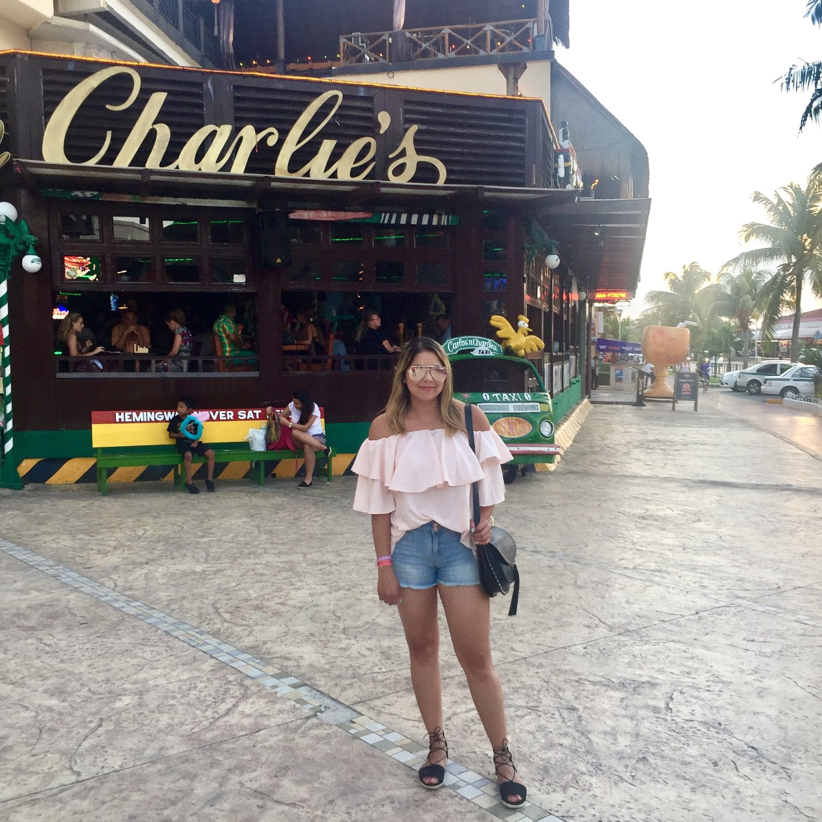 what to wear in cancun, chicwish off the shoulder top, cancun outfits