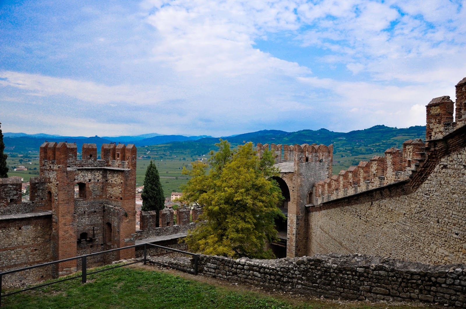 Veneto seen from Soave Castle, Soave, Veneto, Italy