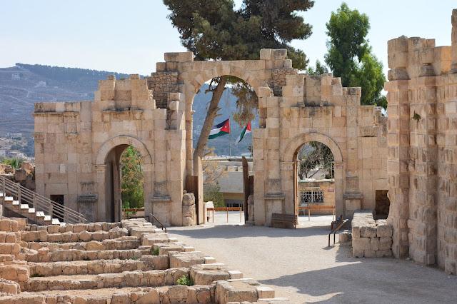 Porte sud de la cité antique de Jérash