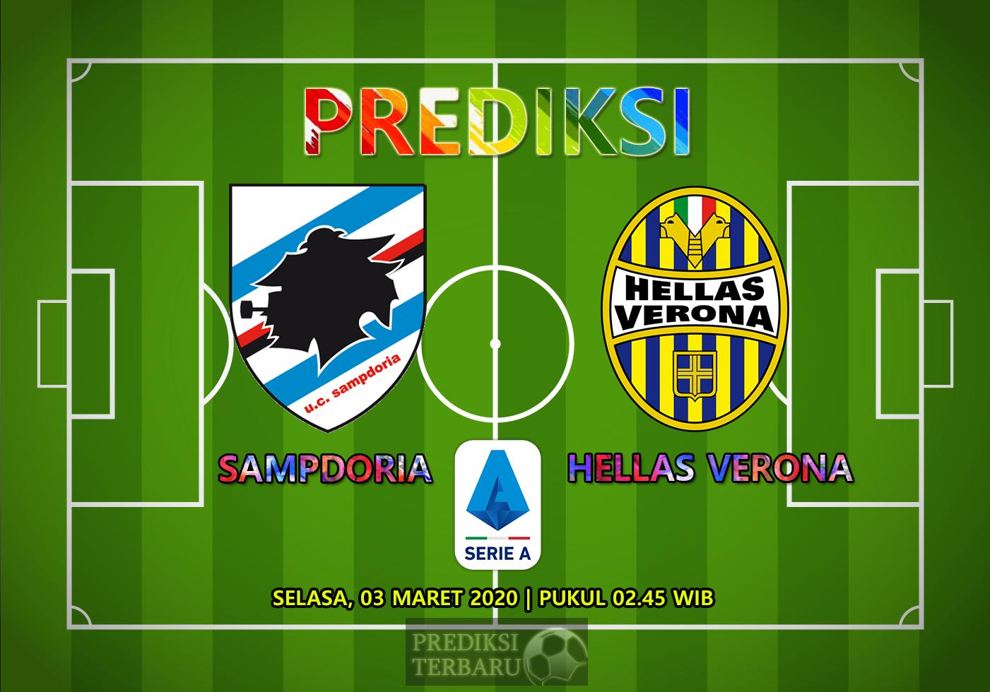 Prediksi Sampdoria Vs Hellas Verona Selasa 03 Maret