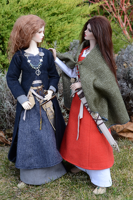 Handmade Viking outfit for BJD doll