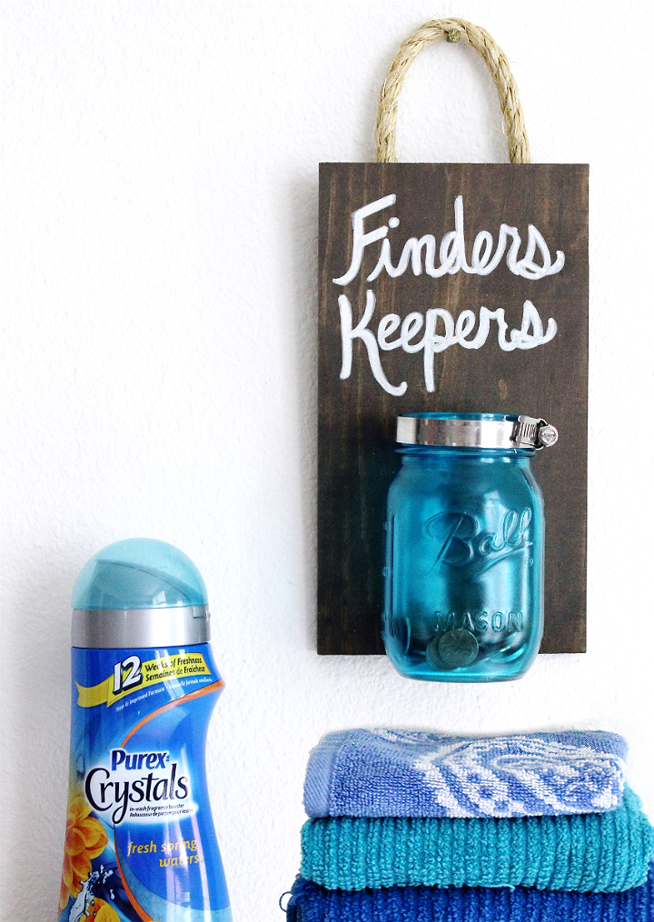 Freshen up your laundry room with this clever Spare Change D.I.Y! Discover #PurexCrystalFresh with up to 12 weeks of freshness when you use one of 10 amazing Purex Crystals in wash fragrance booster scents. #AD