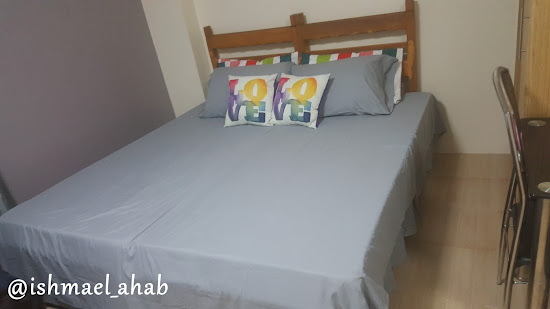 Our bed in Wharton Condominium, Baguio City