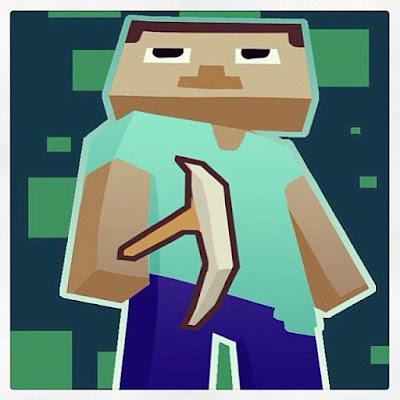 caricatura del personaje de minecraft