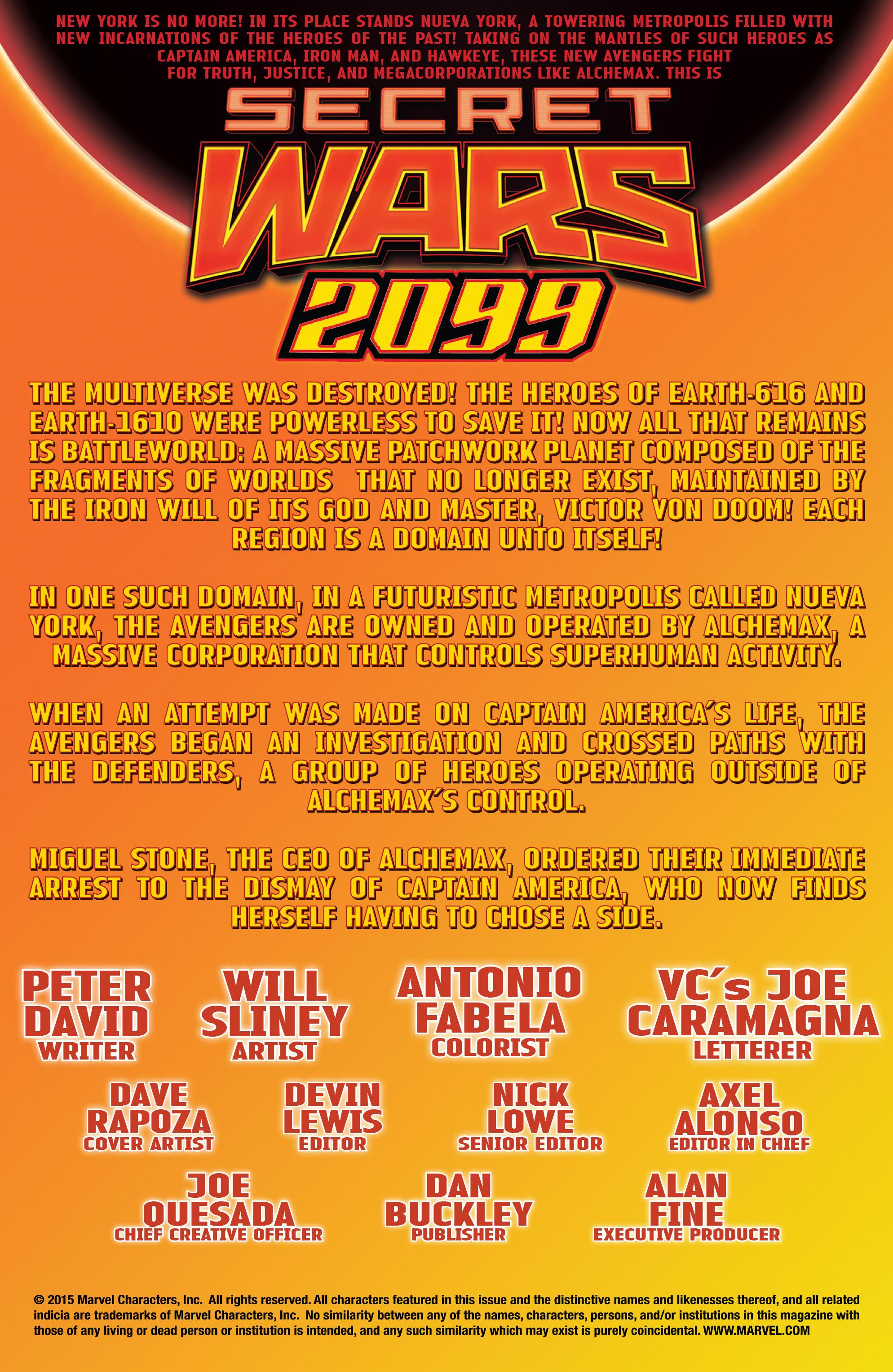 Read online Secret Wars 2099 comic -  Issue #4 - 2