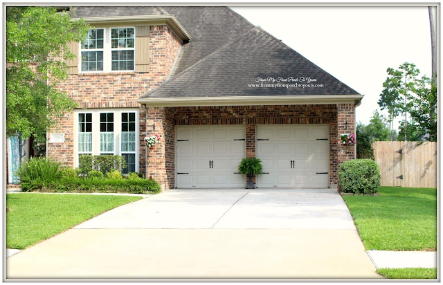 From my front porch to yours curb appeal for Garage door curb appeal