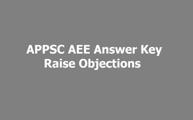 APPSC AEE 2019 answer key