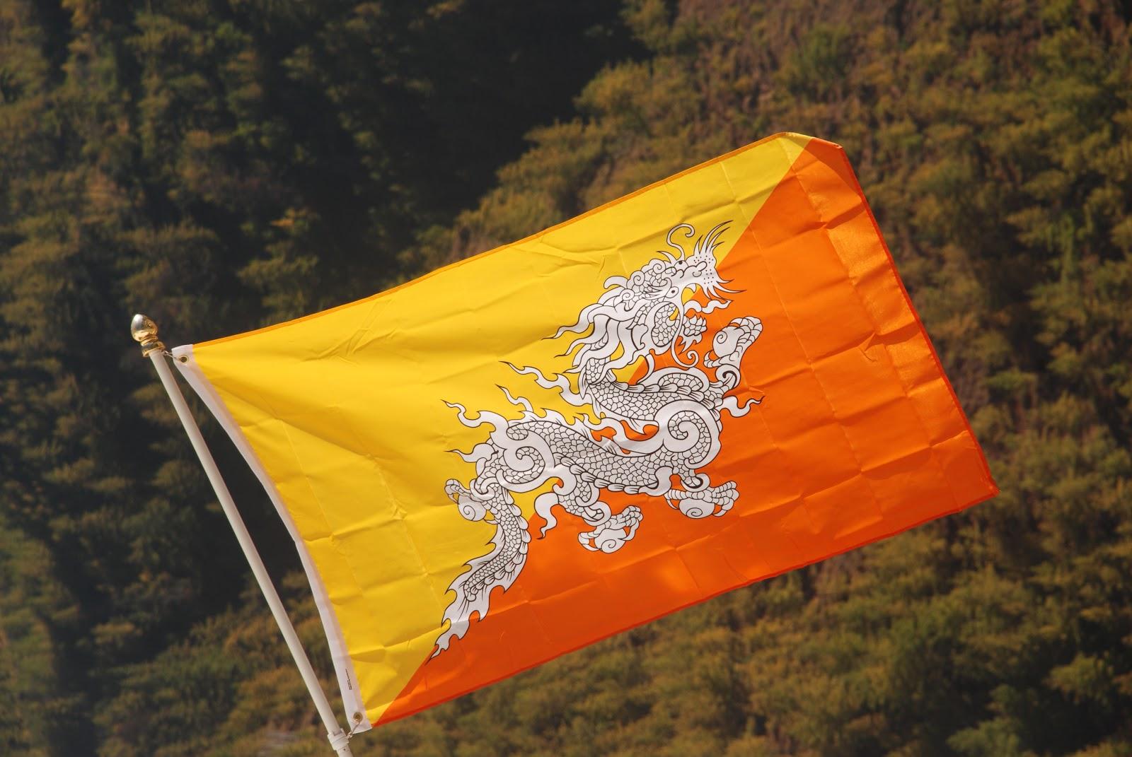 Photo of the Week – Bhutanese Flag – Bhutan Canada Foundation