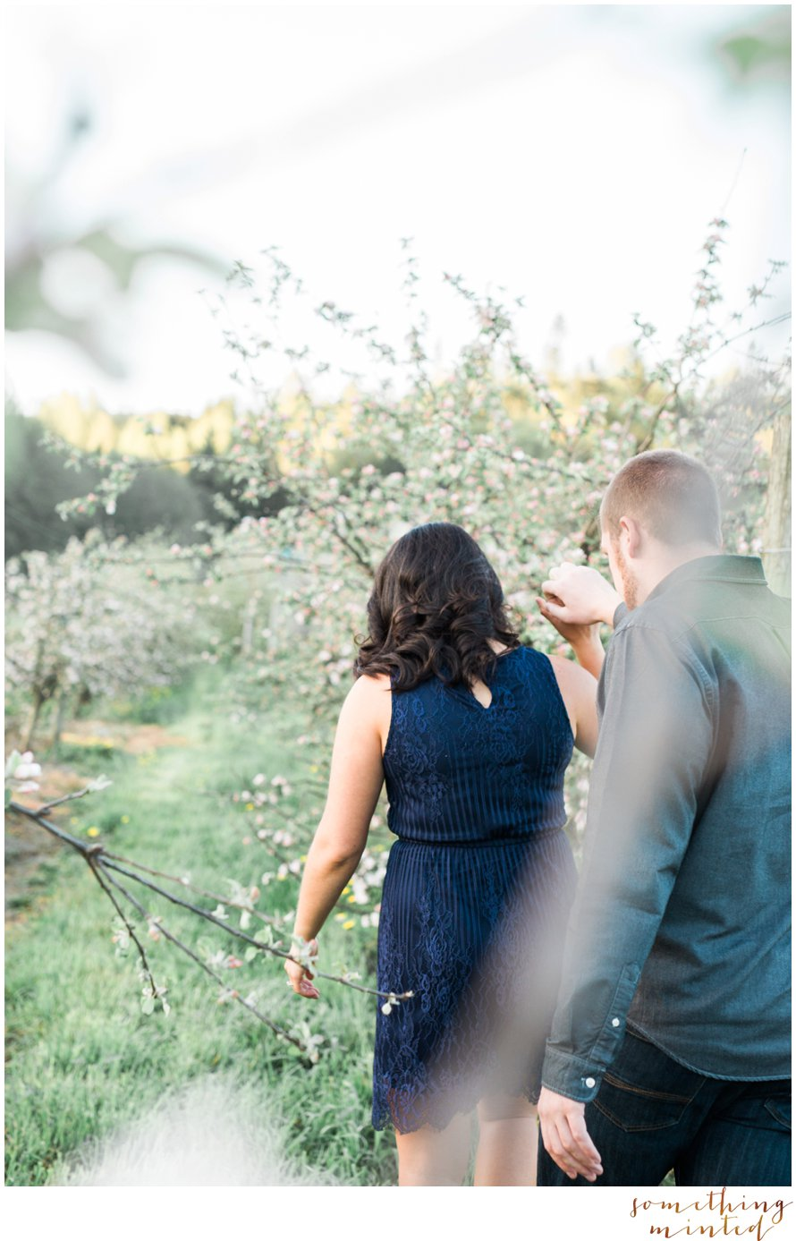 Apple Orchard Engagement Session by Something Minted Photography