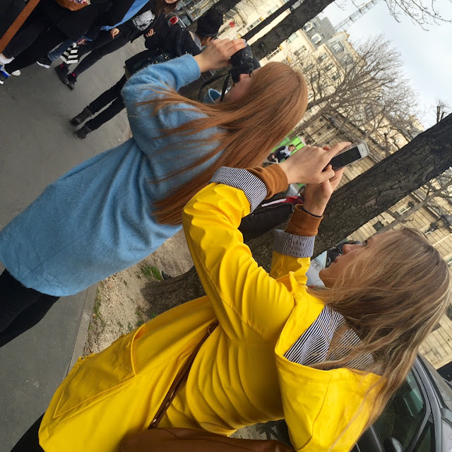 Me and my friend taking photos in Paris