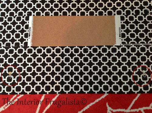 DIY Fabric Magnetic Bulletin Board D-Ring Picture Hangers