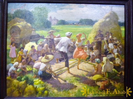 Philippine National Museum - Tinikling by Fernando Amorsolo