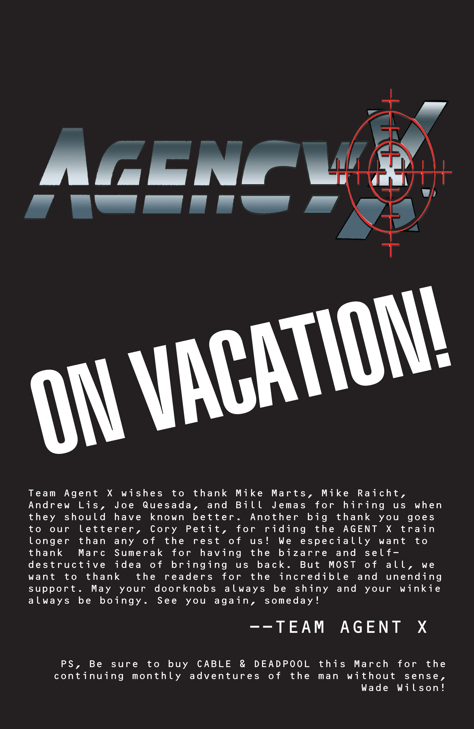 Read online Agent X comic -  Issue #15 - 23