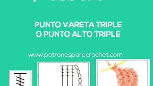 Cómo se teje el punto vareta triple o punto alto triple