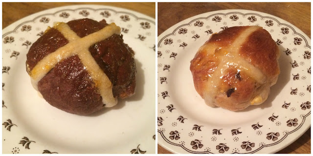 Photograph of my home-made hot cross buns