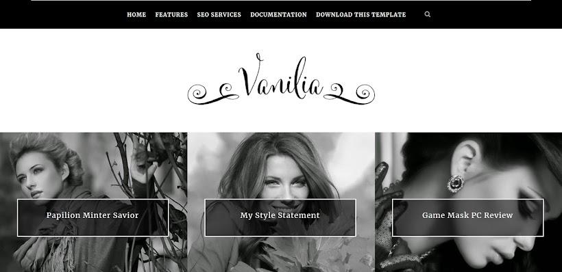 Vanilia Free Blogger Template