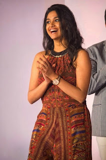 Keerthy Suresh in Maroon Color Dress with Cute and Awesome Lovely Chubby Cheeks Smile