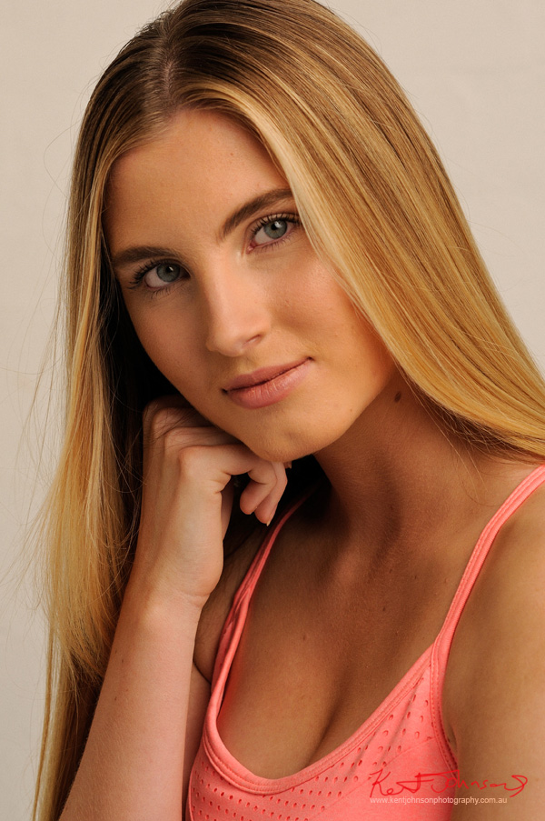 Colour Headshot - Studio Modelling Portfolio, Fitness & Fashion by Kent Johnson, Sydney, Australia.