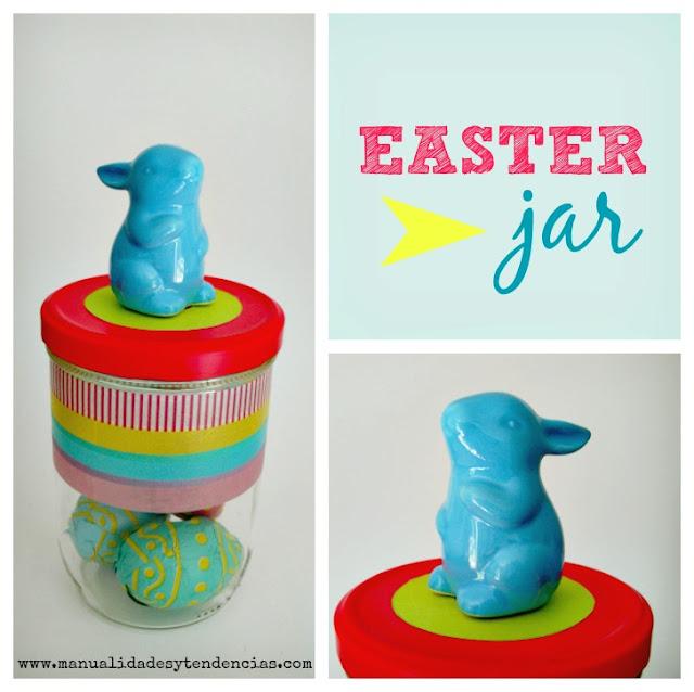 Bote con conejo de Pascua