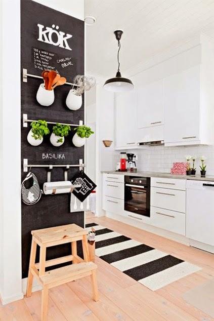 Inspiracje W Moim Mieszkaniu Skandynawska Bialo Czarna Kuchnia