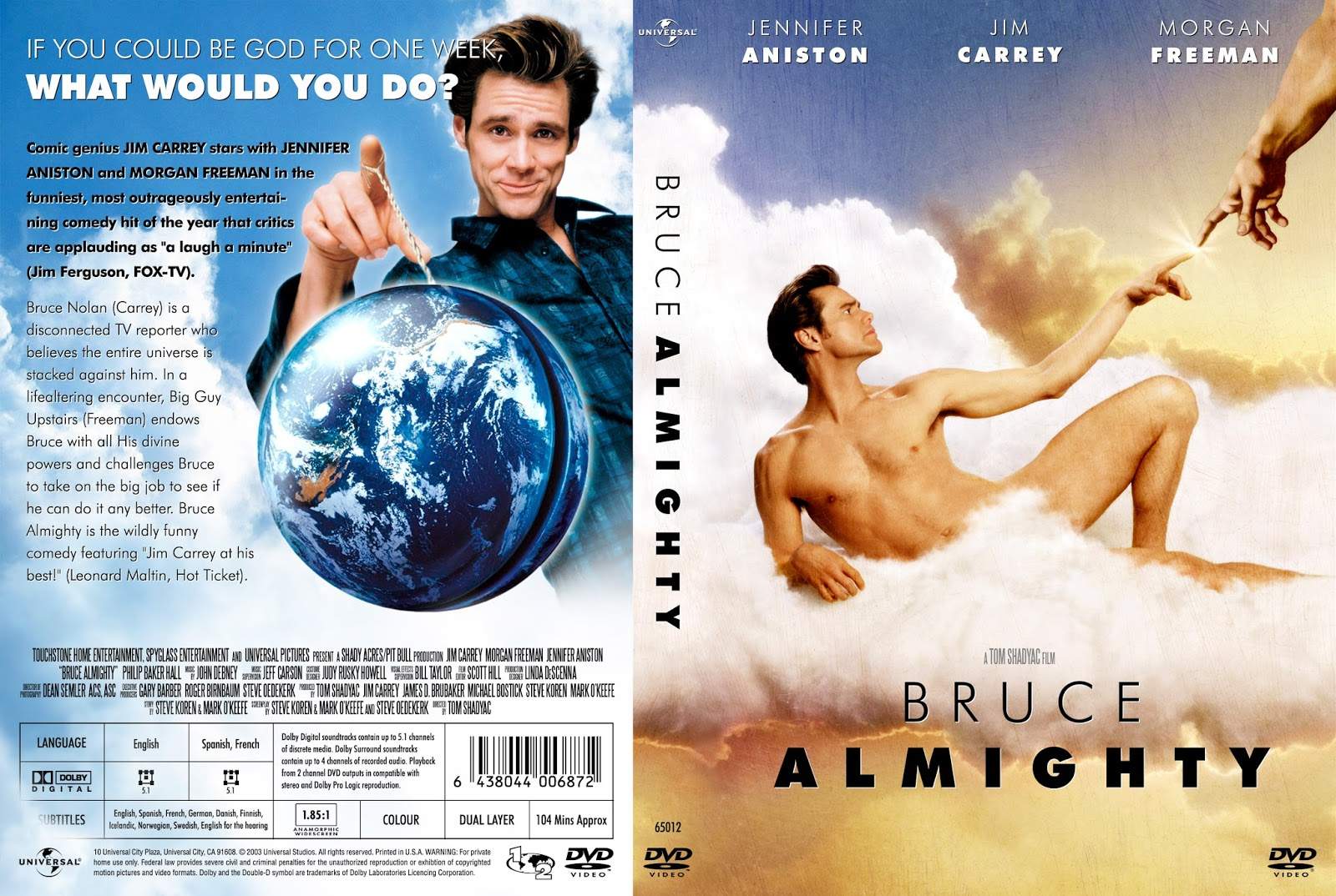 Movies Unlimited Bruce Almighty 2003 American Fantasy Comedy Film Jim Carrey
