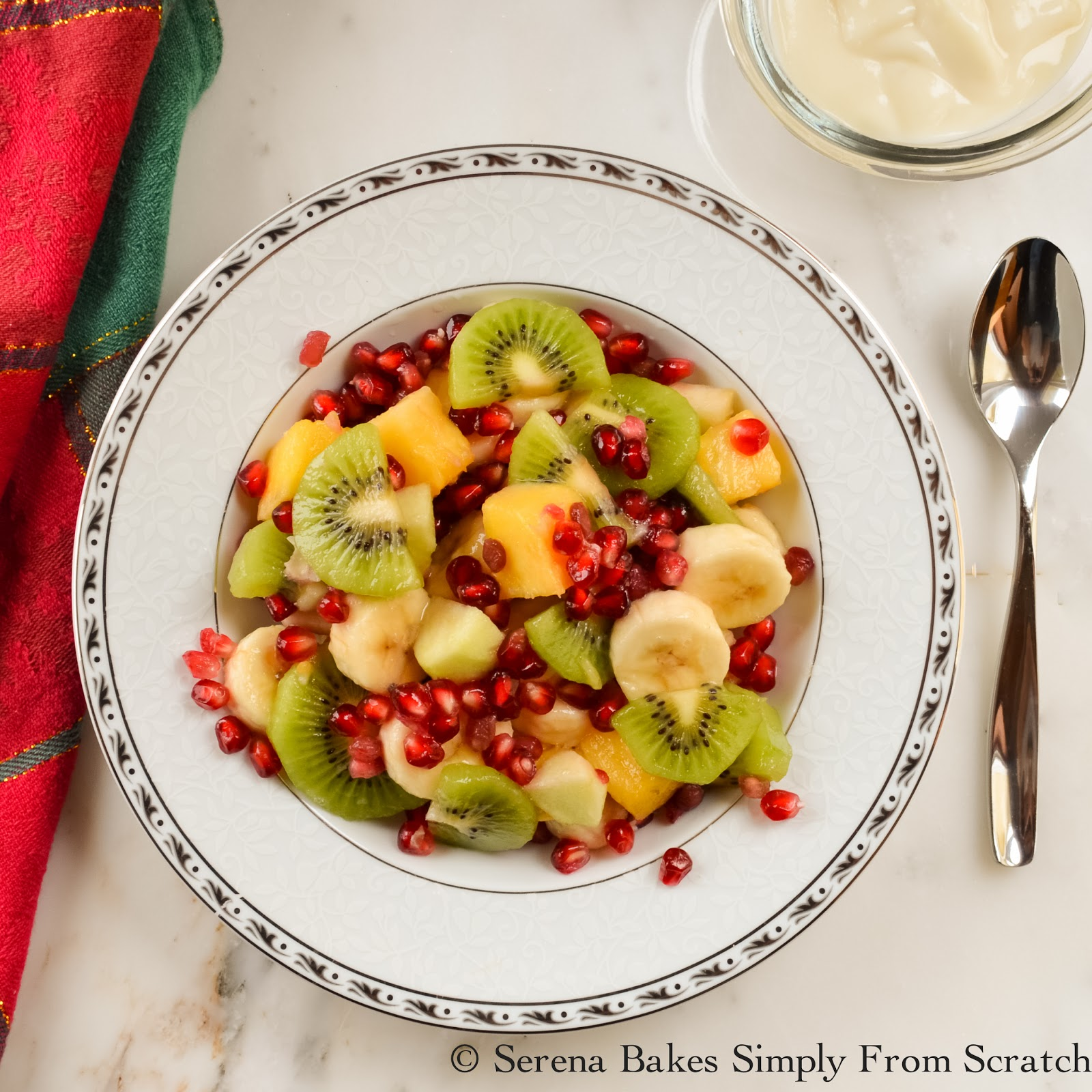 christmas fruit salad serena bakes simply from scratch. Black Bedroom Furniture Sets. Home Design Ideas