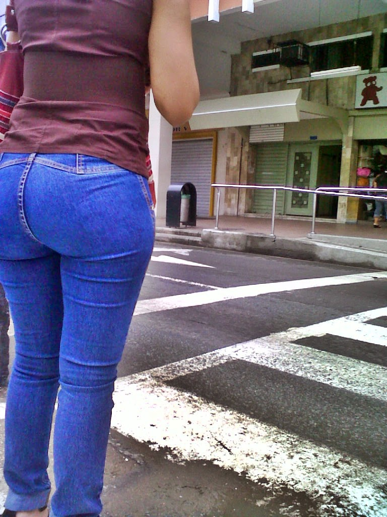 Sexy Girls On The Street, Girls In Jeans, Spandex And -3054